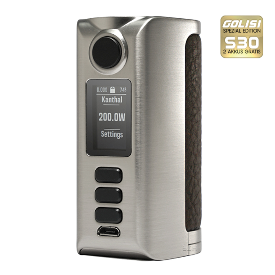Riva DNA 250c Mod - DoVpo (silver rough dark brown) - product image